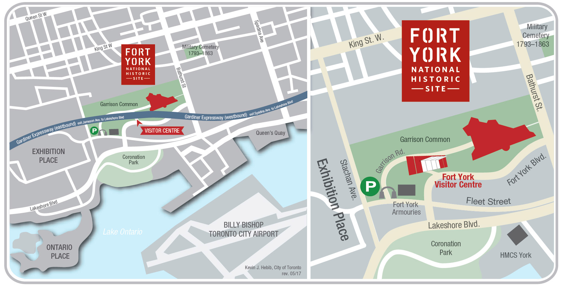 Fort York directions map 2017